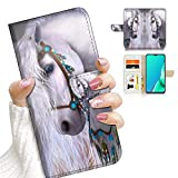 for iPhone 12 Mini, Designed Flip Wallet Phone Case Cover, A20470 White Horse Princess 20470