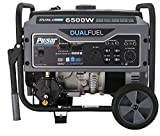 Pulsar G65BN-A Portable Gas & LPG Dual Fuel Generator, 5500 Rated Watts & 6500 Peak Watts, RV Ready, CARB Compliant