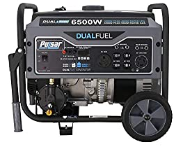 powerful Pulsar G65BN-Nominal output 5500W, peak output 6500, RV portable dual fuel gas and LPG generator …