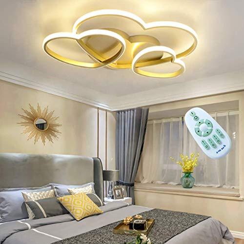 Lámpara de techo LED moderna para niños Lámpara de techo en forma de corazón para niñas Lámpara de techo cálida y romántica para habitación de niños Regulable con control remoto Lámpara colg