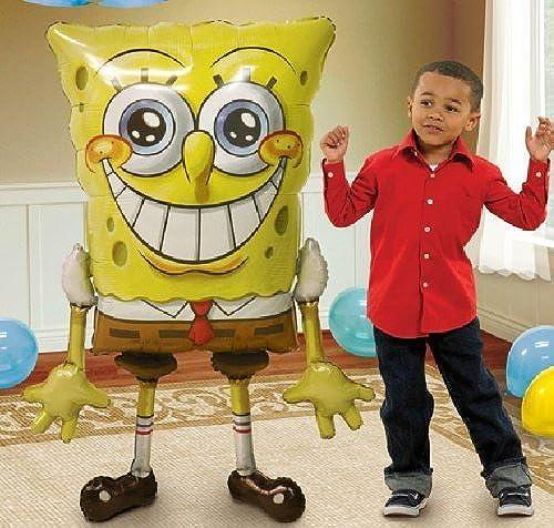 Tu satisfacción es nuestro objetivo SPONGEBOB SPONGEBOB SPONGEBOB Sponge Bob 46 Tall AIRWALKER Air Walker Birthday Party Mylar Balloon by Lgp  gran descuento