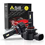 Alla Lighting 6000 Lumens P20d Base HB3 9005 LED Bulbs, High/Front Dipped Beams Bulbs/DRL Replacement Xtreme Super Bright CSP-SMD, 6000K Xenon White