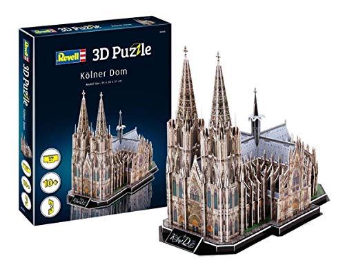 Revell- Catedral de Colonia, Longitud 35,0cm 3D Puzzle, Mult