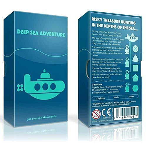 Juego de mesa Deep Sea Adventure, Juego de cartas con Gadget de interacción para familias, niños, niños