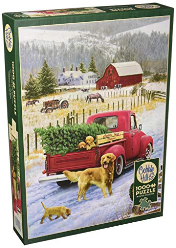 Cobblehill 80127 1000 pc Christmas on The Farm Puzzle, Various