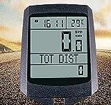 N / A Velocímetro de Bicicleta, computadora de Bicicleta de Pantalla Grande, LCD Luminosa, computadora de Ciclismo inalámbrica