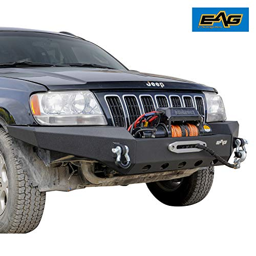 EAG Assembled Front Bumper Compatible with 1999-2004 Grand Cherokee WJ