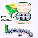 12 Cups Household Cupping Vacuum Suction Haci Magnetic Therapy Acupressure Cup TCM Acupuncture and Moxibustion Cupping Set Health Care (12)