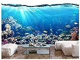 Relovsk Fototapete Meer Ozean Fisch Korallenriffe Schildkröte Fototapete Fototapete Unterwasserleben Poster Wanddekoration150cmx105cm