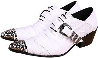 Rui Landed Oxford pour Hommes Chaussures Habillées À Lacets Style Premium en Cuir Véritable Monk Strap Metaldecor Métal Wi...