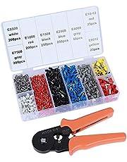 ValueHall Krimptang Set Adereindhulstang Met 1200 Stuks 0,5–6 mm2 Kabelschoenen en Kabelschoentang 0,25 – 6 mm2 voor Draadverbinding en Bescherming V7001-1