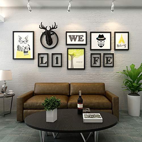 URAURORA familie fotolijst Gift muur opknoping decoratie combinatie Selfie Gallery Collage met opknoping sjabloon voor slaapkamer trap woonkamer kantoor