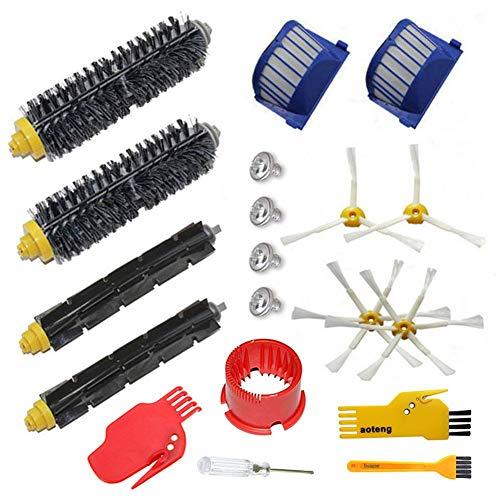 Remplacement des brosses pour le kit d'accessoires de l'aspirateur iRobot Roomba 600 Series 529 595 630 650 660 670