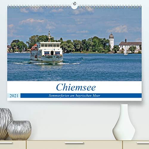 Chiemsee - Sommerferien am bayrischen Meer (Premium, hochwertiger DIN A2 Wandkalender 2021, Kunstdruck in Hochglanz)