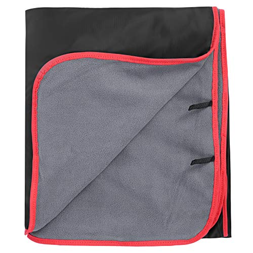 REDCAMP Large Waterproof Stadium Blanket for Cold Weather, Soft Warm Fleece Camping Blanket Windproof for Outdoor Sports, Blue/Red (Outer Black/Inner Grey)