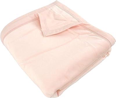 綿毛布 2枚合わせ毛布 シングルサイズ 140×200cm コットンブランケット 洗える 綿マイヤー (ピンク)