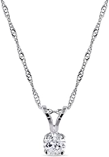 TriJewels Diamond Dog Pendant 0.14 ctw in 925 Sterling Silver with 18 inches Silver Chain
