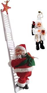 Shimigy Electric Climbing Ladder Santa Claus Christmas Figurine Gifts+Decor Santa Claus
