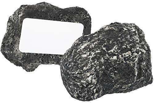 com-four® 2X Schlüsselstein Big Mountain, Stein mit Geheimfach, Schlüsselversteck in Stein-Optik, Geocaching-Stein (2 Stück - groß)