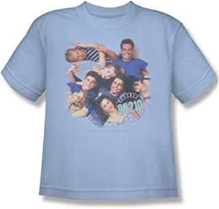 Cbs Beverly Hills 90210/Gang in Logo Big Boys T-Shirt in Pink