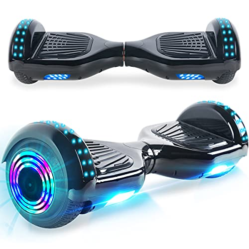 Windgoo Hoverboard, 6.5 Zoll Self Balance Scooter mit Starker Dual Motor - LED Lights Elektro Scooter, Self Balancing Scooter für Kinder (Black)
