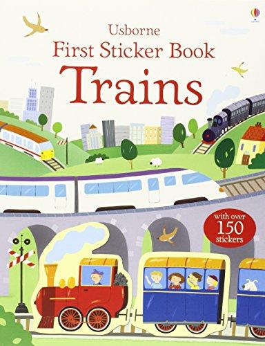 First Sticker Book Trains (First Sticker Books series)