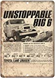 Forry Toyota Big 6 Land Cruiser Wheel Drive Metall Poster