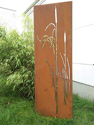 Zen Man Edelrost Garten Sichtschutz aus Metall Rost Gartenzaun Gartendeko edelrost Sichtschutzwand H180*50cm 031477-5