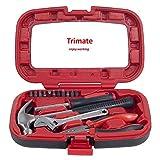 Herramientas manuales del hogar, set de herramientas de 15 piezas de Trimate,(Rojo)