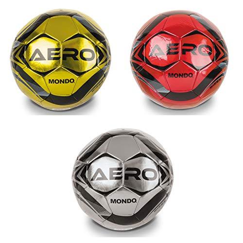Mondo-13712 Italia Mondo Toys-Pallone da Calcio Cucito Aero-Size 5-400 g-Colore rosso/grigio/oro-13712, Multicolore, 5, 13712