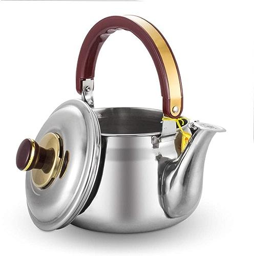 SCJS Bouilloire à thé Tout inoxidable, versover pour Une Bouilloire à café avec Une chaudière résistante à la Chaleur, pour poêle Appartement
