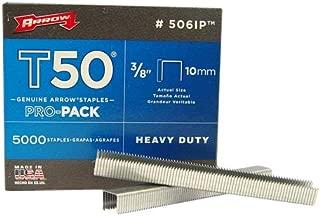 Arrow 506-IP T50 3/8-Inch Staples, 5000-Pack
