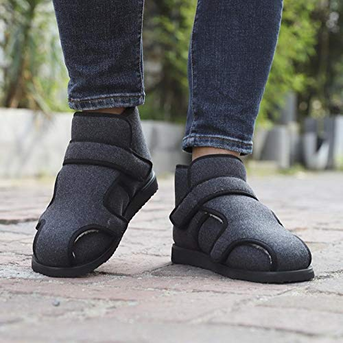 XRDSHY Zapato para Diabéticos Unisex, Zapatos Transpirables para Caminar Zapatos Antideslizantes Ajustables para Edema Sandalias Hinchadas Extra Anchas para Hombres Mayores, Mujeres,Dark gray-48