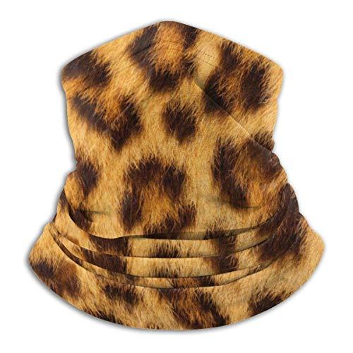 JaOUIY Tiger Skin Kopfbedeckung Bandana Neck Gaiter Kopfbedeckung Sturmhaube Gesichtsmaske Staub Winddicht für Camping im Freien Camping