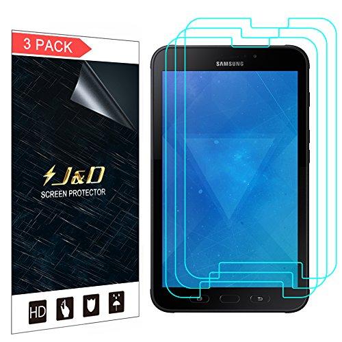 JundD Kompatibel für 3er Set Galaxy Tab Active 2 Bildschirm Schutzfolie, [Nicht Ganze Deckung] Premium HD-Clear Schutzfolie für Samsung Galaxy Tab Active 2