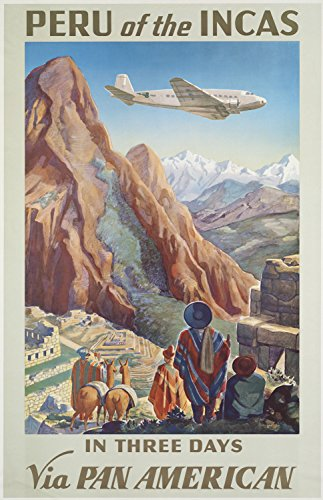 Vvision Peru of The InCAS Travel Art Painting on Iron Metal Sign Metal Wall Decoration Metal Poster Gifts for Office Garage Bar