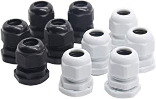 CJIANHUA 10pcs/lot Nylon Plastic Cable Gland Connector IP68 Waterproof M12x1.5 for 3-6.5mm M16x1.5 M20x1.5 M22 Wire Cable ...