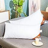 ComfortAce Cervantes 40x80 cm Hochwertiges 2er Set Kopfkissen,Kissen mit Bezug aus Baumwolle,Softes Gewebe und Atmungsaktiv Mikrofaser Füllung,Anti-Milben Allergikergeeignet Waschbar,Weiß MEHRWEG