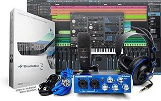 PreSonus AudioBox Studio with Headphones, Microphone, Mic Cable, USB Cable, and StudioOne..