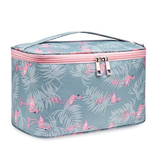 Travel Makeup Bag Große Kosmetiktasche Makeup Case Organizer für Frauen und Mädchen (Groß, Flamingo)