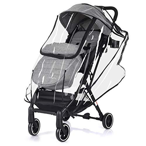 DREAMADE Kinderwagen mit Sonnenschirm und Regenschutz, Reisebuggy leicht und Klappbar, Kinderwagen mit liegefunktion Buggy, Sportwagen Kinderwagen Set, max. 15 kg belastbar (graun)