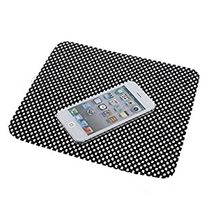 AUTO SNAP ASAP_Plain Black MATT Anti-Slip Gel Pad, Rubber Pad,Premium Universal Non-Slip Mat Car Dashboard Mat for All Cars (Black/White)