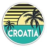 2 x 10cm Croacia pegatinas de vinilo - viajes de vacaciones etiqueta de equipaje portátil # 18042 (10 cm de ancho)
