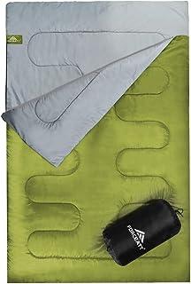 ideal f/ür Outdoor Camping Backpacking Wanderungen FUNDANGO 3-4 Season Doppelschlafsack mit Kissen f/ür 2 Personen Erwachsene