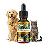 Gold Nutra Premium Hemp Oil for Pets (7500 mg) for Separation Anxiety, Hip & Joint Pain Relief, Arthritis, Inflammation, Nausea & Chronic Pains - Omega 3, 6 & 9-100% Organic Calming Drops
