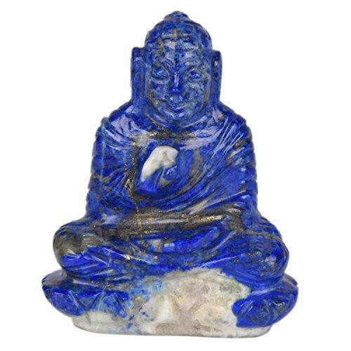 Gemhub Aproximadamente 546.00 CT. Lapislázuli, Piedras Preciosas, Estatua de Buda, Tíbet, Medicina Abhaya, Viejo, Tibetano, Chino, Budismo, V-7840