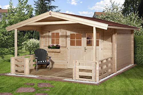 Weka Gartenhaus 136 Gr. 1 mit Vordach und Terrasse
