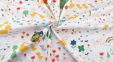 Ideal tela pollitos al corte por metros. 1 unidad es 0.50 m. x 1.60m 2 unidades 1 m x 1.60 m. cortinas, cojines, sabanas, canastillas, vestidos,100% algodon toallas manualidades de CHIPYHOME