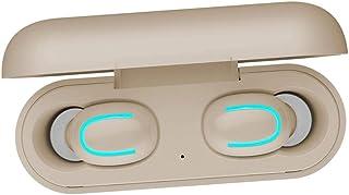 Tung bas hörlurar öronsnäckor hörlurar Snygg bärbar Bluetooth 5.0 Earbuds Trådlös hörlurar hörlurar med laddning Väska - B...