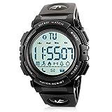Beeasy Montre Sport Homme,Digitale Hommes Smartwatch LCD Numérique Bluetooth Fitness Tracker Etanche Militaire Montres avec...